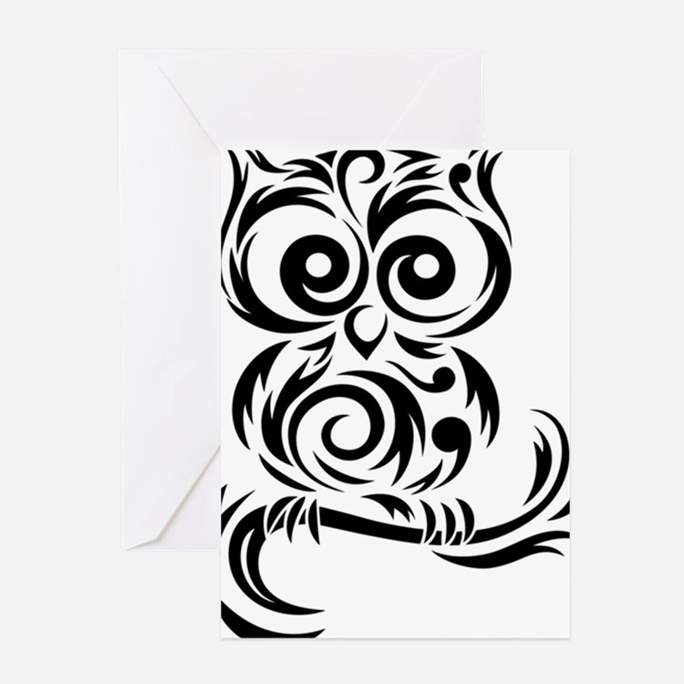66cd93e62 Cute Black Tribal Owl Tattoo Stencil