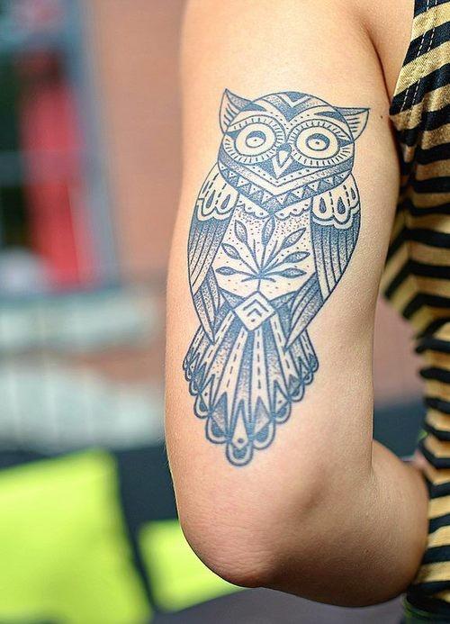 50 owl tattoos for girls. Black Bedroom Furniture Sets. Home Design Ideas