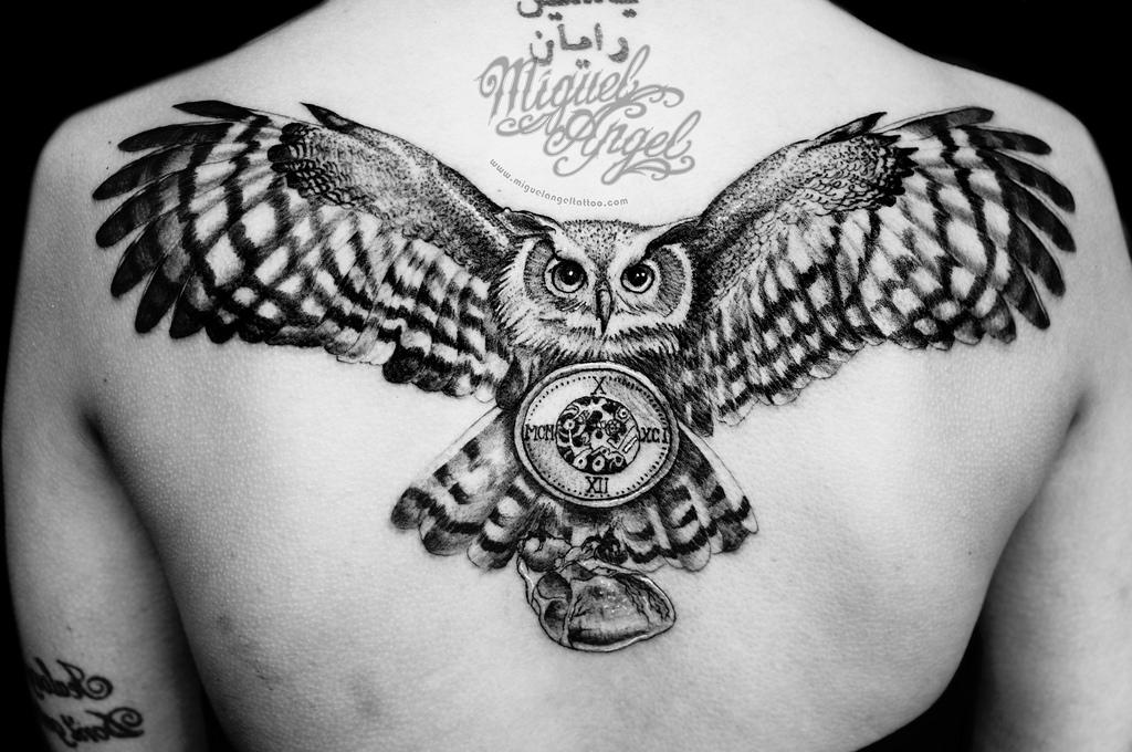 43+ Owl Pocket Watch Tattoo