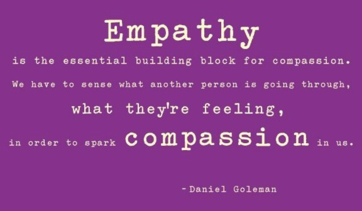 compassion and empathy Dr brené brown is a research professor and best-selling author of daring greatly: how the courage to be vulnerable transforms the way we live, love, parent and lead (penguin portfolio, 2013.