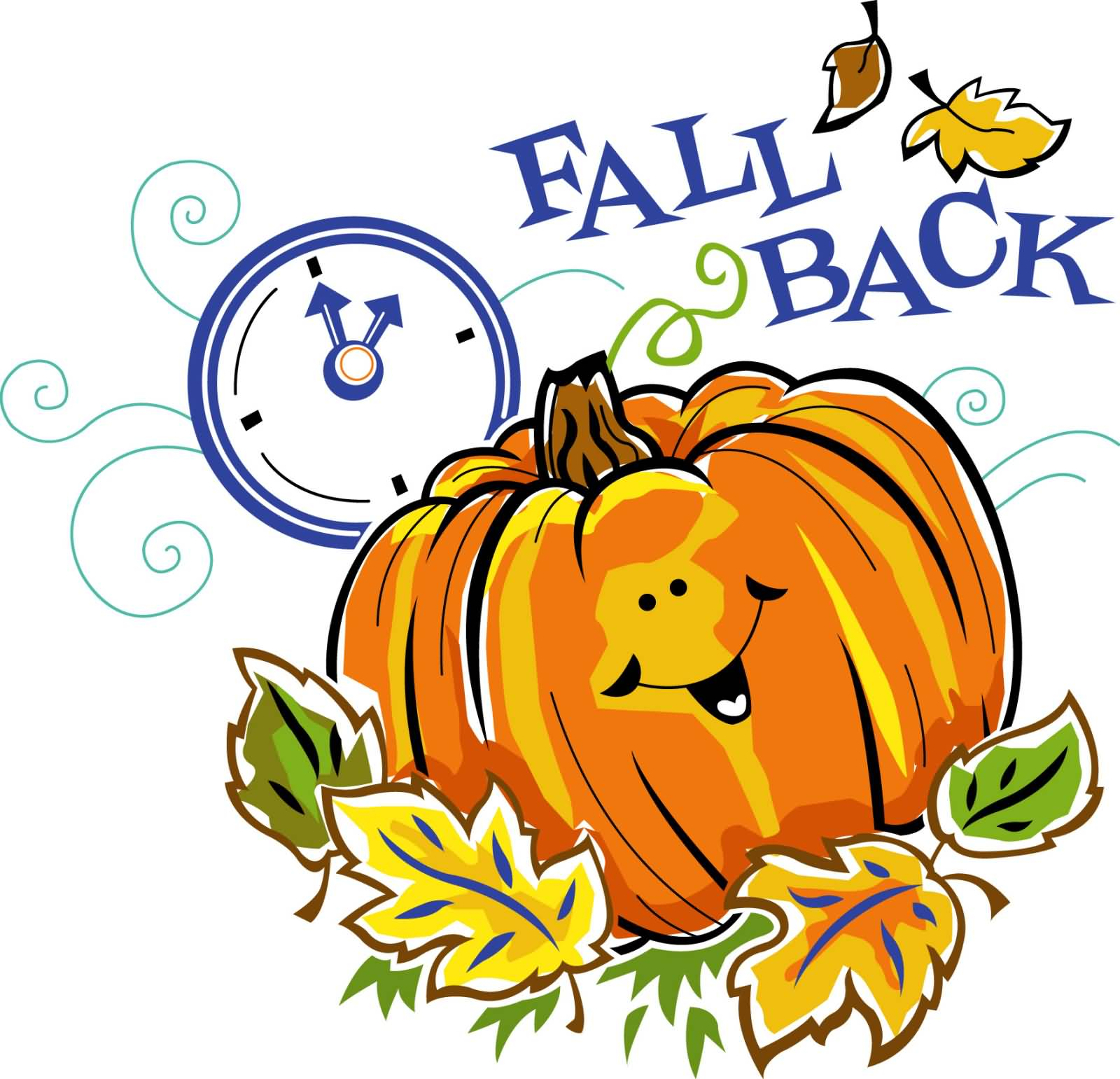 Clip Art Daylight Savings Time Clipart fall back daylight saving time ends pumpkin clipart