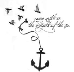 48+ Anchor With Birds Tattoos Collection