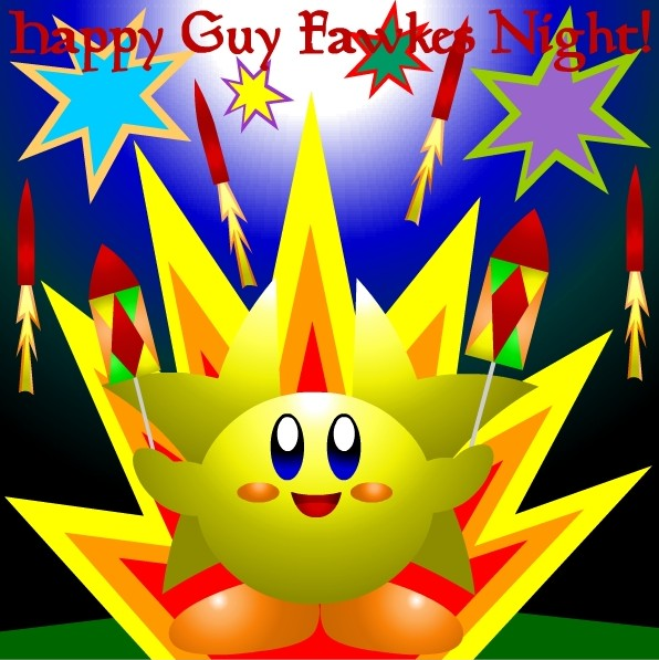 Happy Guy Fawkes Night Clipart