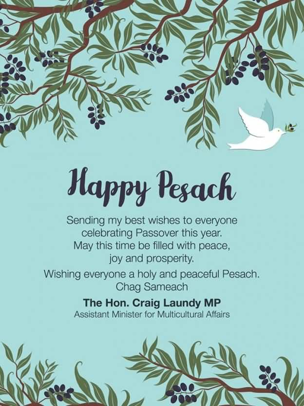 10 beautiful pesach wish pictures and photos happy pesach sending my best wishes to everyone celebrating passover this year m4hsunfo