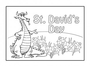 st david\'s day coloring pages | 50 Best Saint David's Day Wish Pictures And Photos