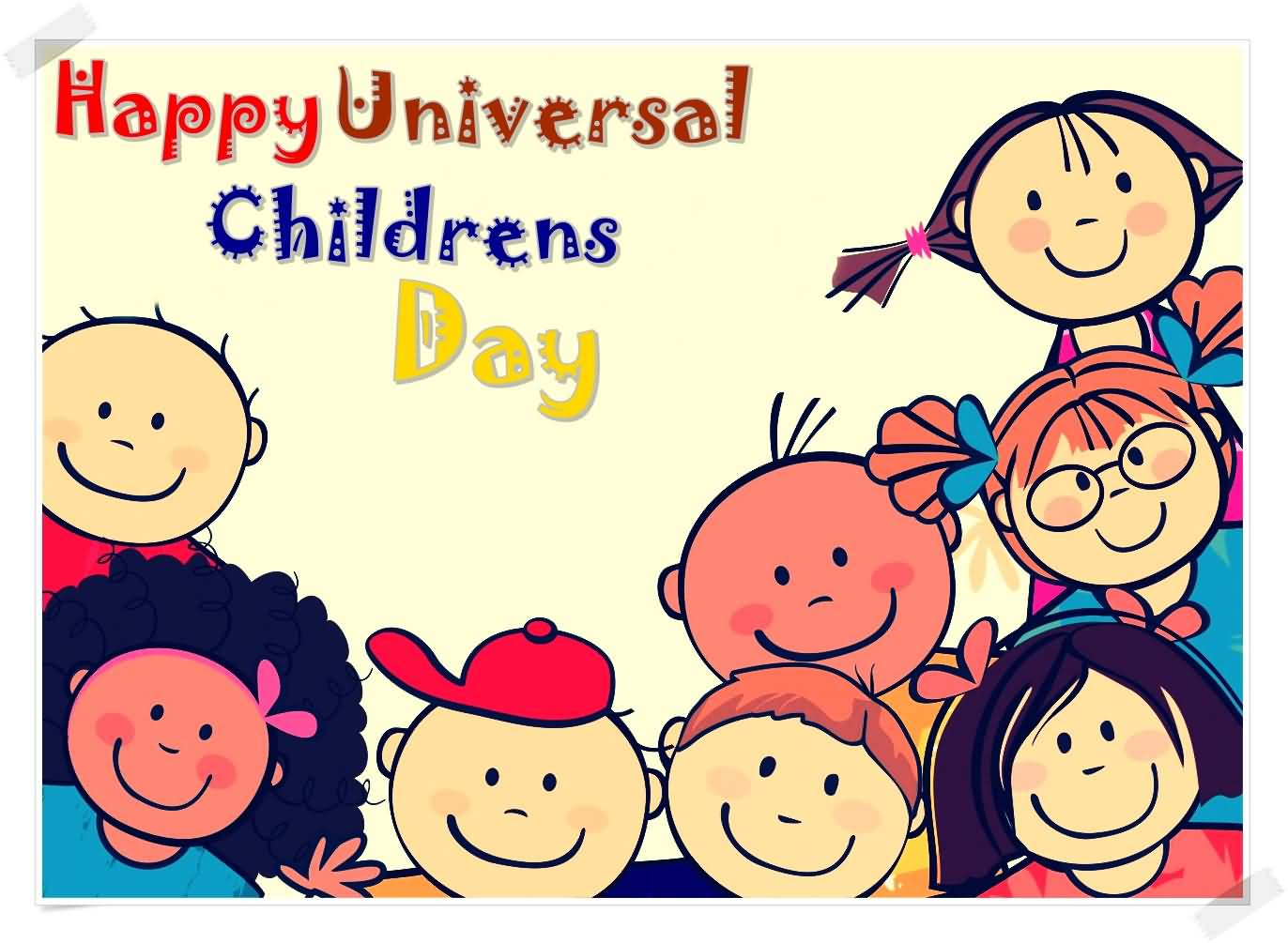 happy universal childrens day cartoon picture - Cartoon Image Of Children