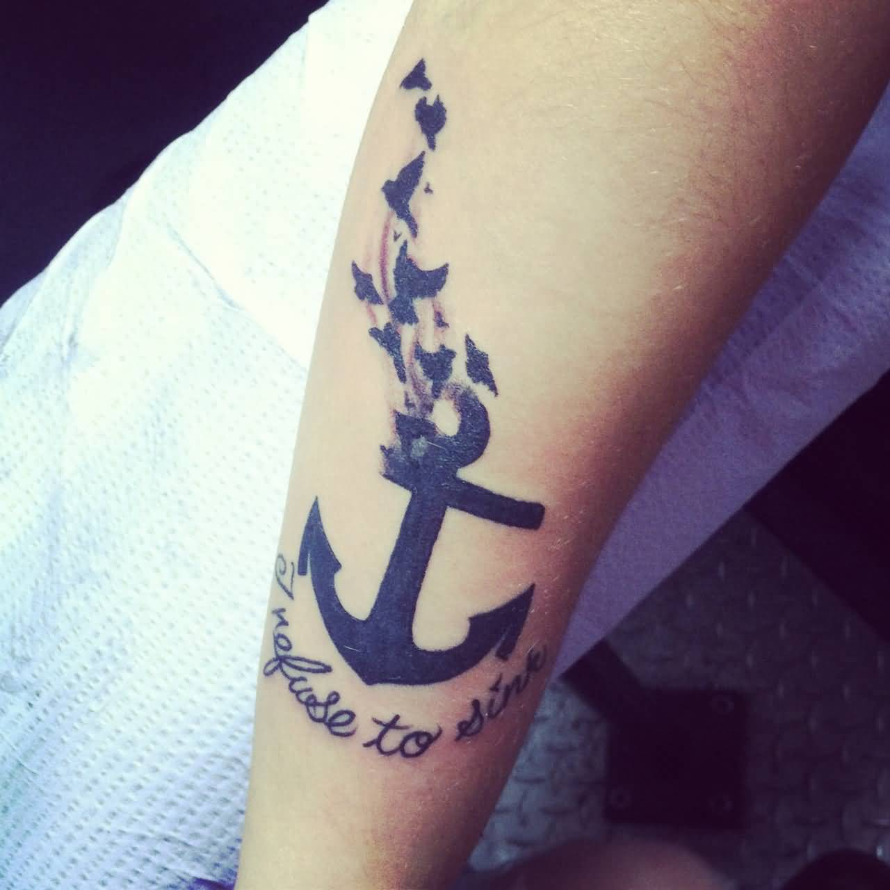 i refuse to sink tattoo on wrist - photo #27
