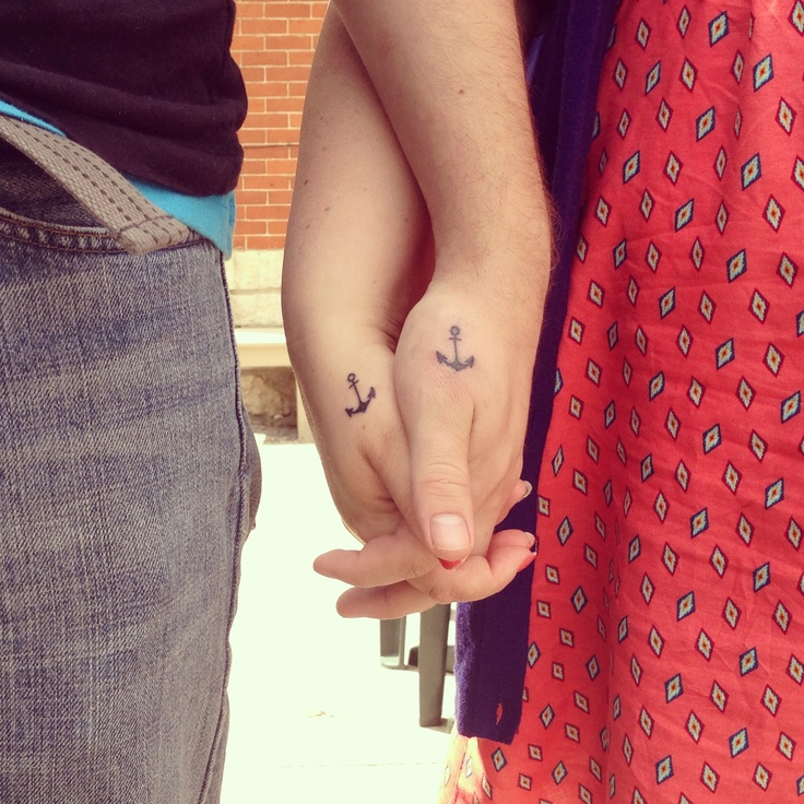 37 anchor tattoos for couple for Anchor tattoos for couples