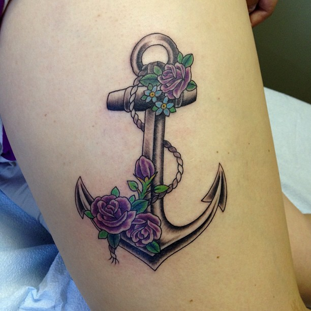 50 Best Anchor Rose Tattoos Collection