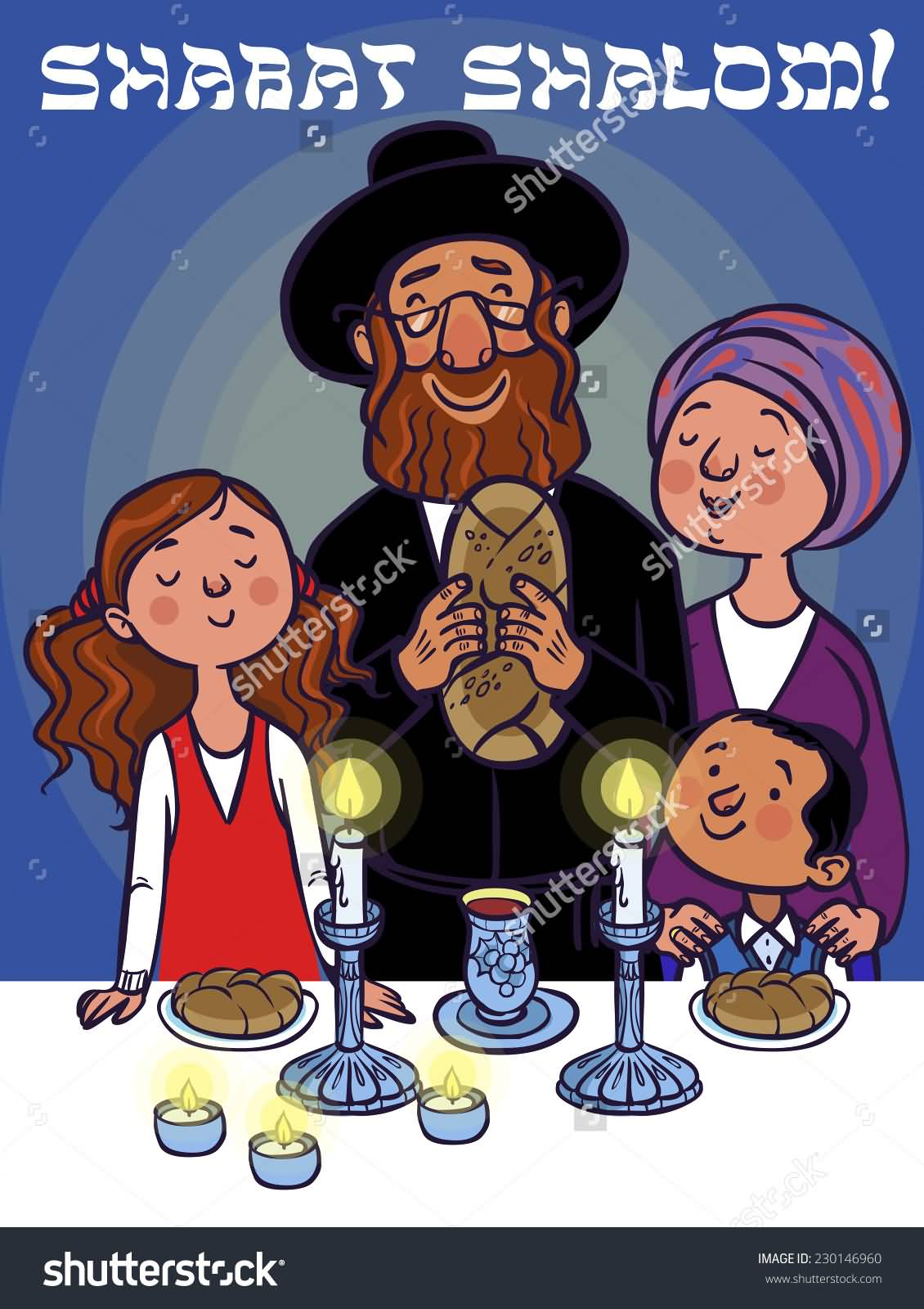Jewish-Family-Celebrating-Shabbat-Shalom