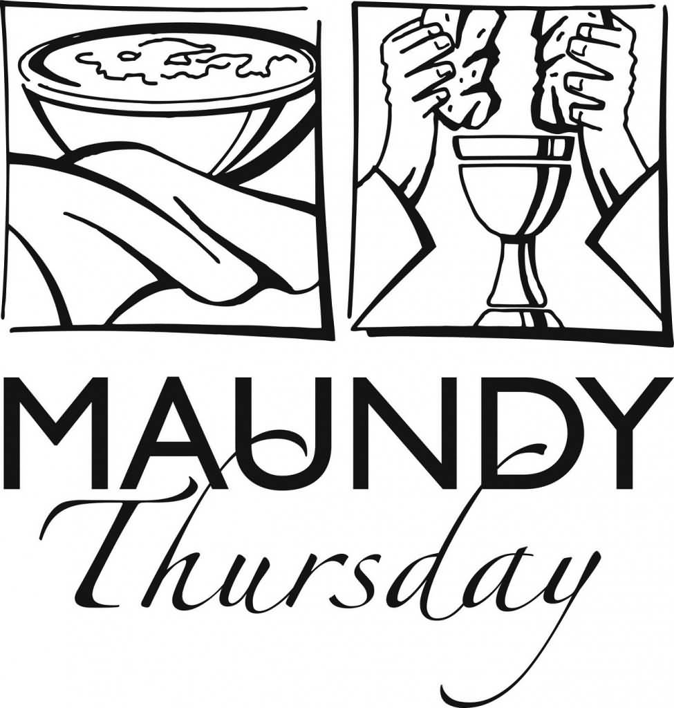 Maundy Thursday Service Coloring Page