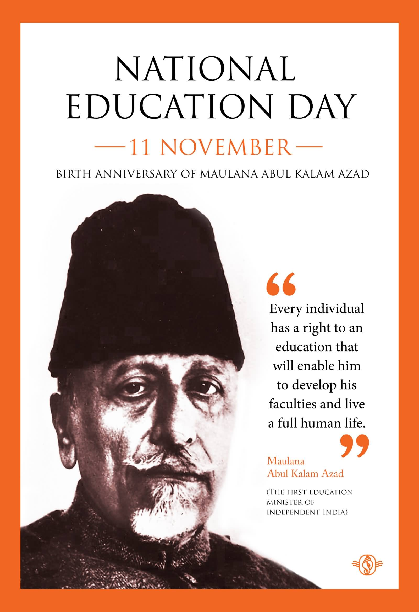 National Education Day Celebration Poster