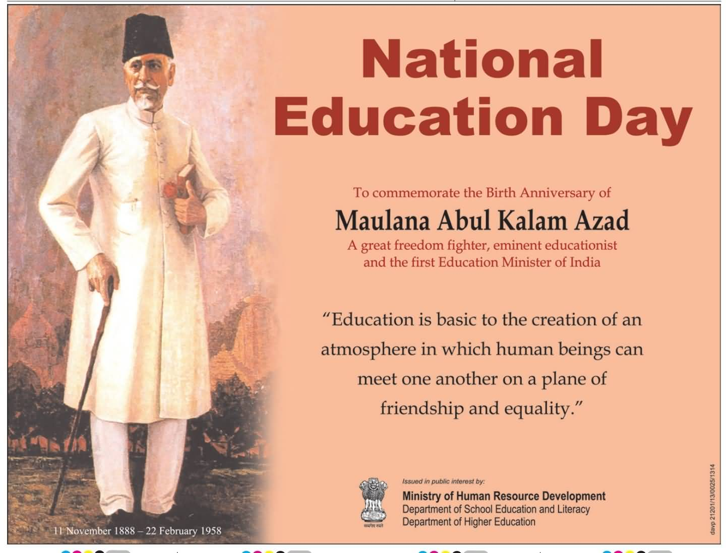 We Celebrate The National Education Day On November 11th