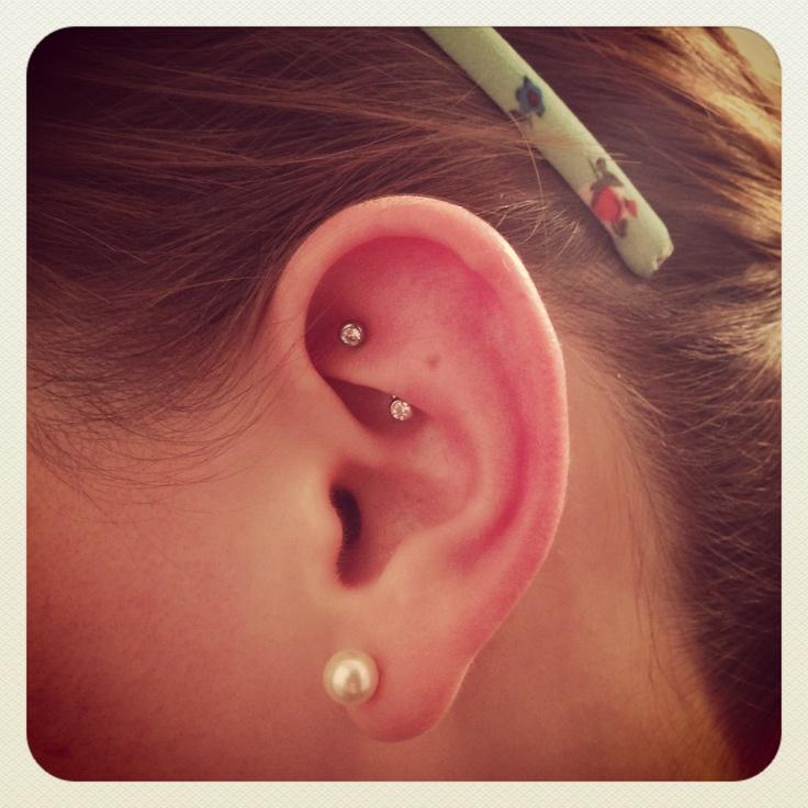 46+ Beautiful Rook Piercing Ideas For Girls  Rook Piercing Stud