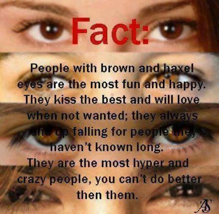 People With Brown And Hazel Eyes Are The Most Happy And Fun They Kiss The