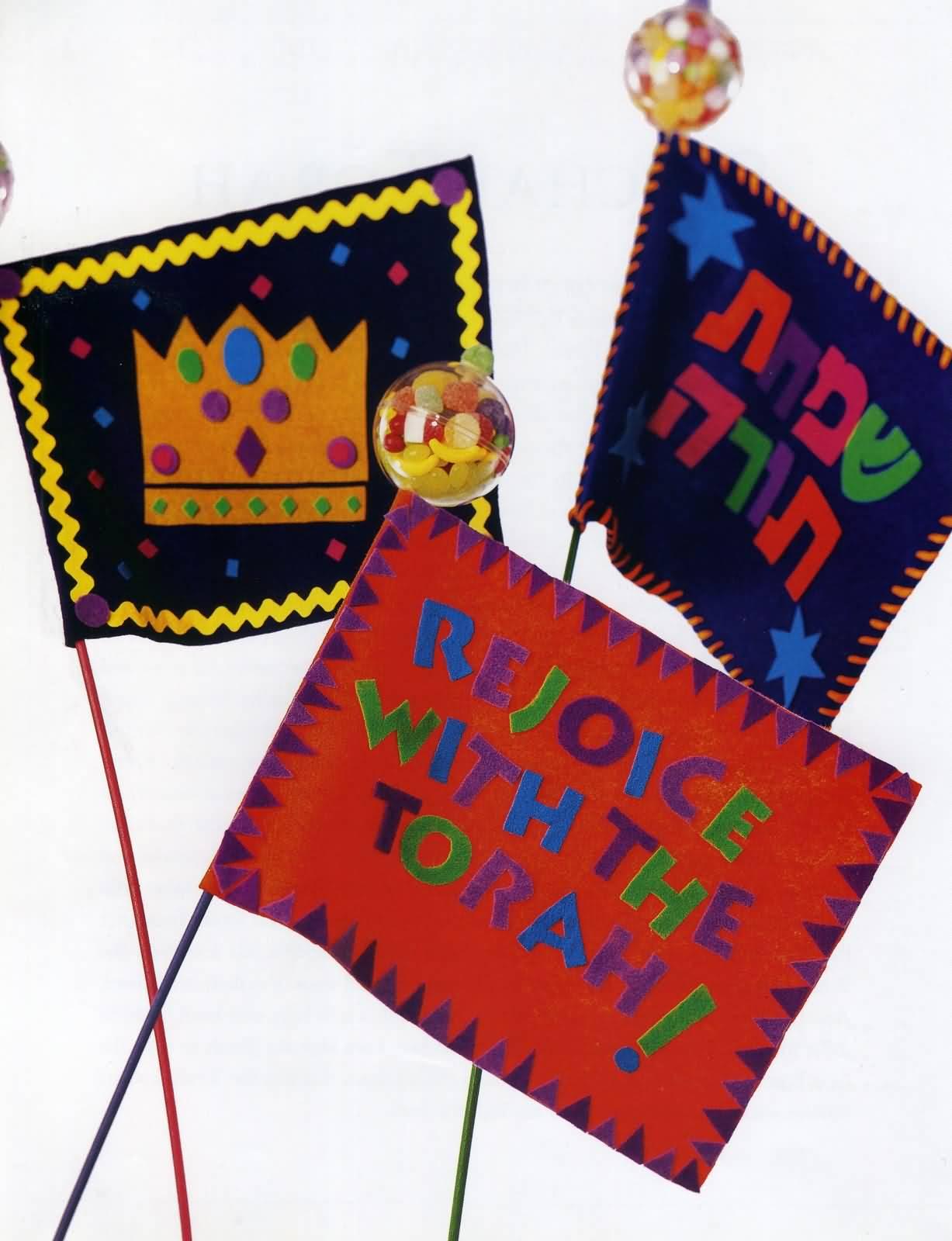 Simchat torah greetings rejoice with the torah happy simchat torah flags m4hsunfo