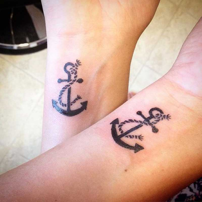 50 simple anchor tattoos collection. Black Bedroom Furniture Sets. Home Design Ideas