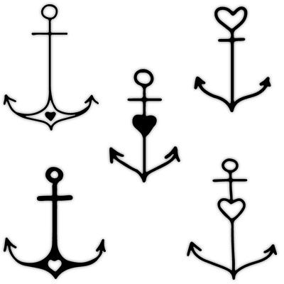 50 Simple Anchor Tattoos Collection