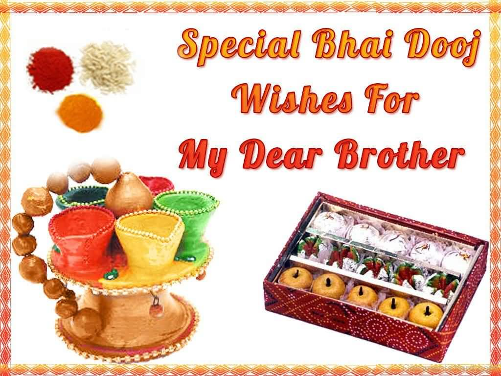 50 best bhai dooj greeting pictures special bhai dooj wishes for my dear brother kristyandbryce Images