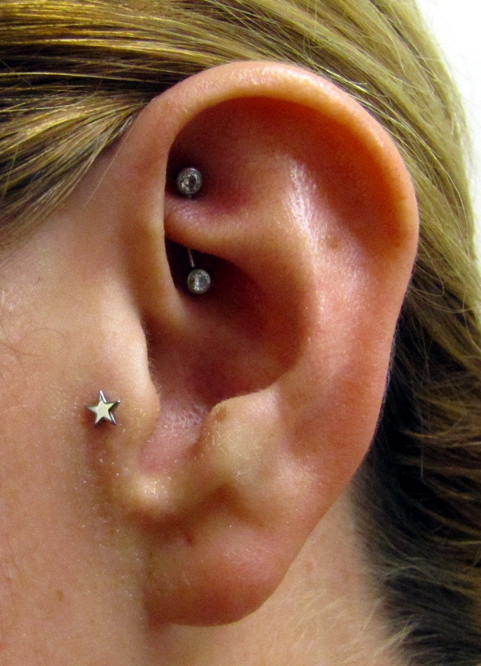 46+ Tragus And Rook Piercing Pictures  Rook Piercing Stud
