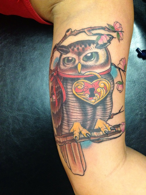 44+ Amazing Owl Lock Tattoos