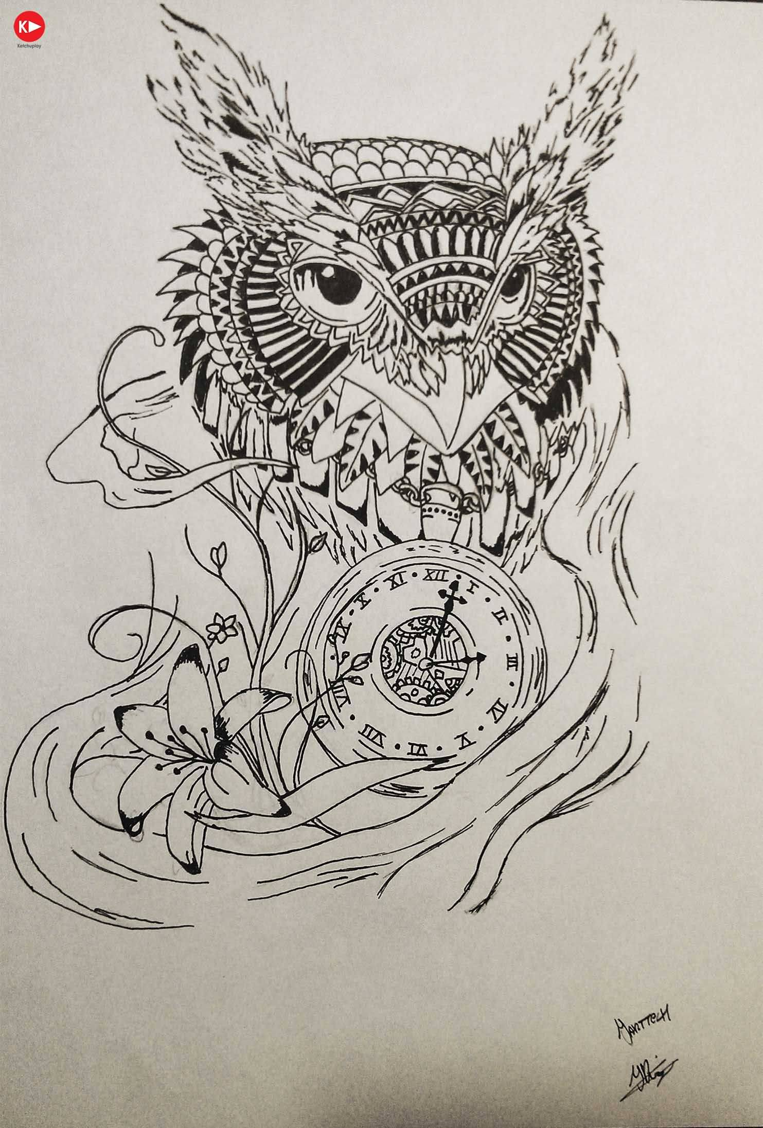 Grandfather Clock Sketch 40+ Awesome Owl ...