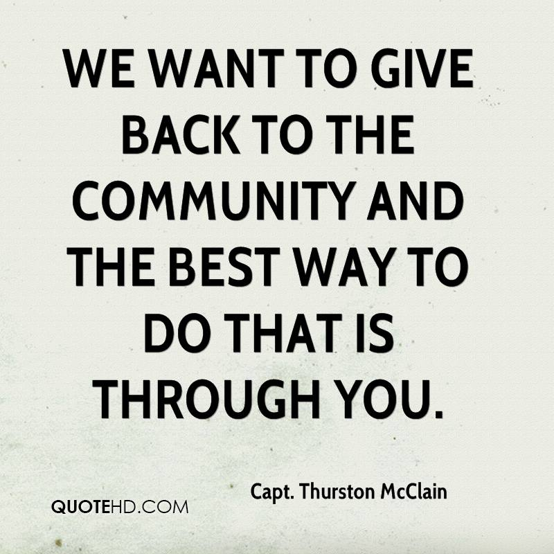 60 Beautiful Community Quotes And Sayings Amazing Quotes About Giving Back