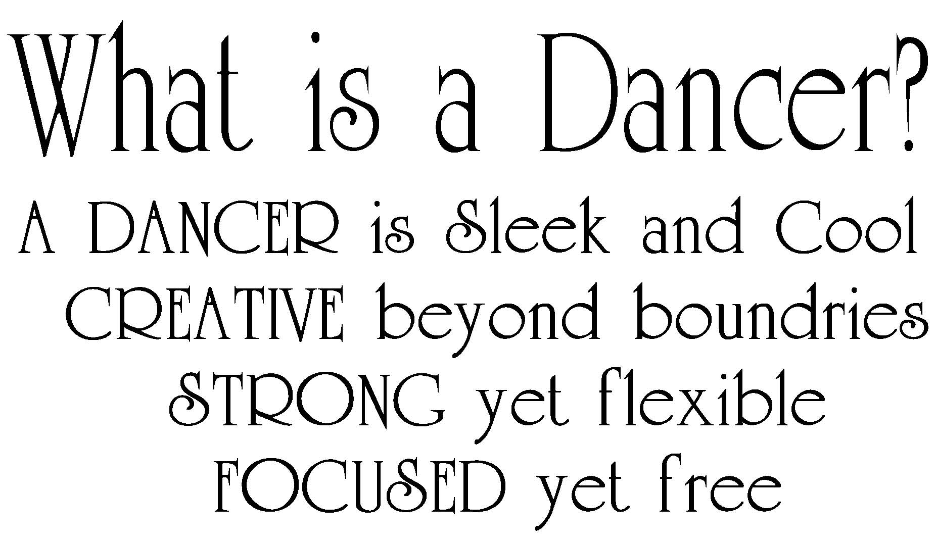 Dances: a selection of quotes