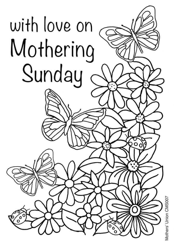 Dltk Coloring Pages Mothers Day