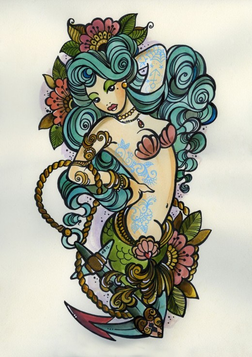 37 Neo Mermaid Tattoos Collection
