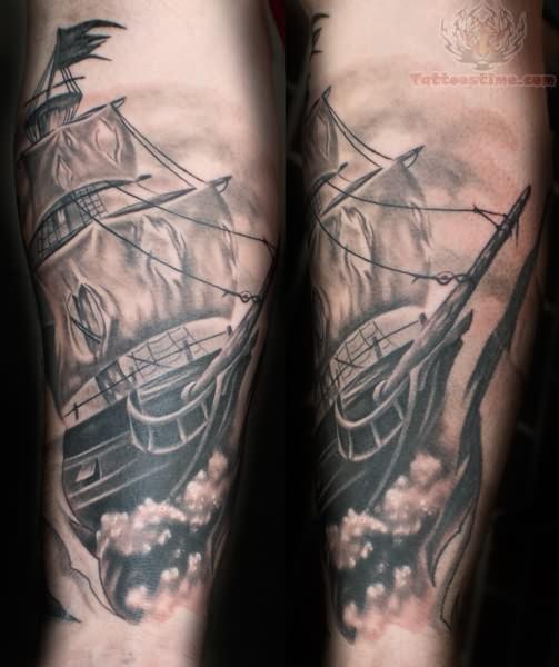 58 ghost pirate ship tattoos ideas. Black Bedroom Furniture Sets. Home Design Ideas