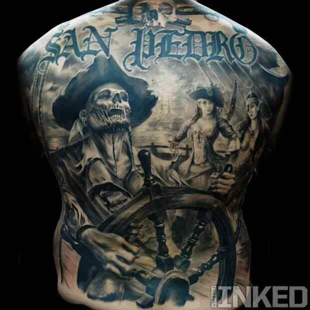30 Nice Pirate Tattoos On Back