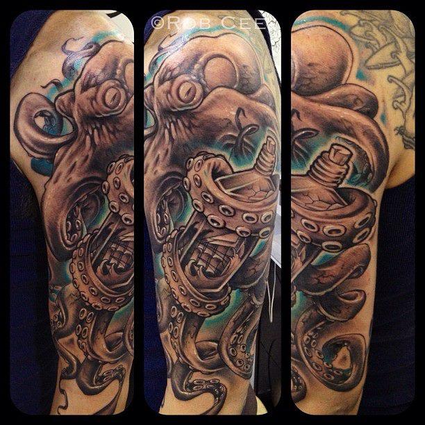 Octopus Ship Tattoo Sleeve 41+ Octopus Tattoos On...