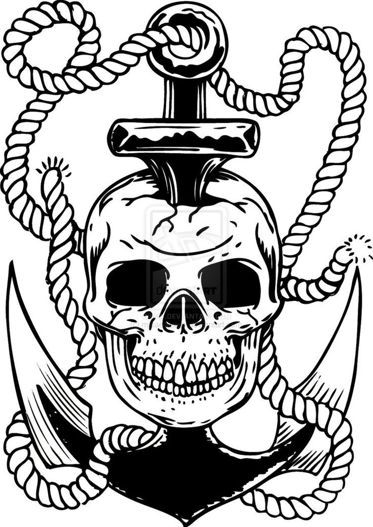 61+ Pirate Anchor Tattoos Collection