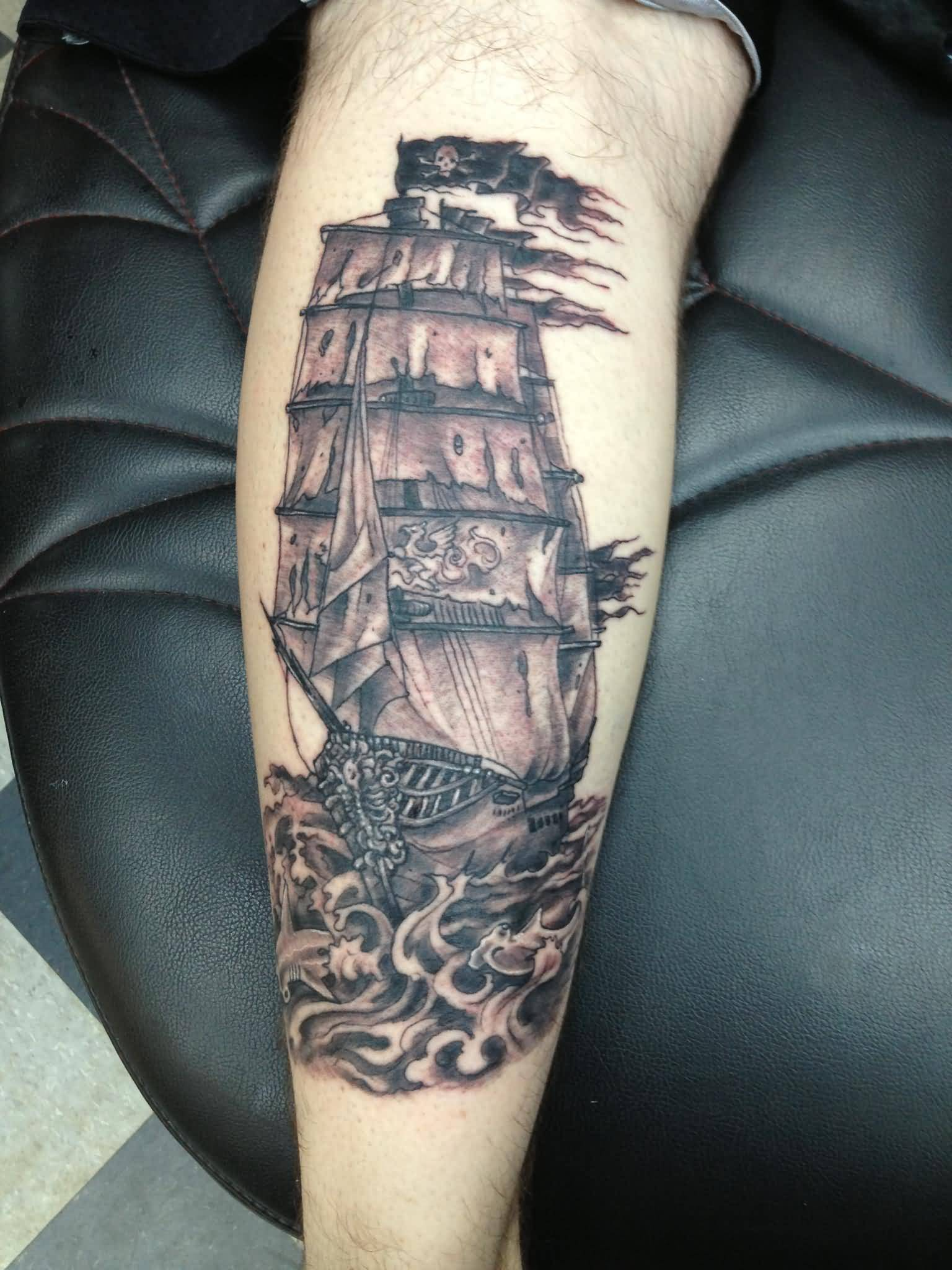 18+ Pirate Tattoos On Forearm