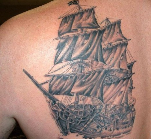 Tattoo Designs Pirate Ships: 30+ Nice Pirate Tattoos On Back