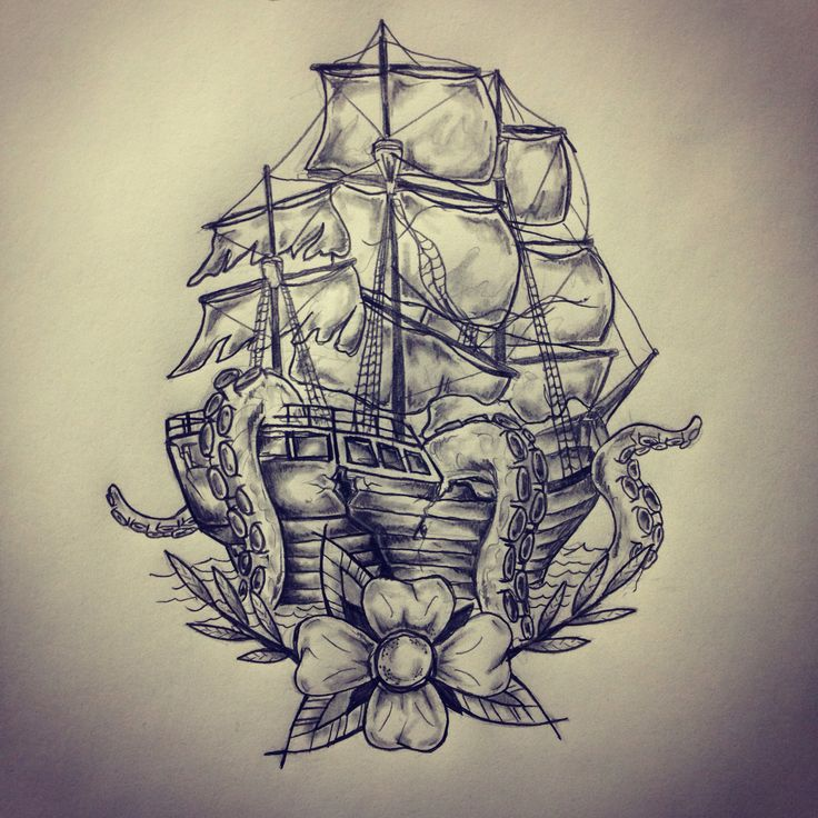 Pirate Ship Tattoo Design: 37+ Pirate Octopus Tattoos Collection