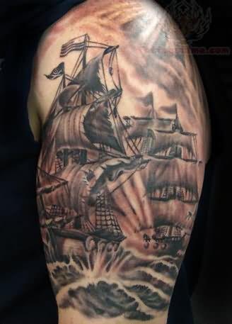 40 pirate tattoos on sleeve. Black Bedroom Furniture Sets. Home Design Ideas