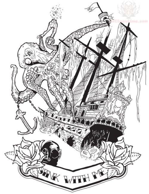 Pirate Ship Tattoo Design: 66+ Pirate Ship Tattoos Ideas