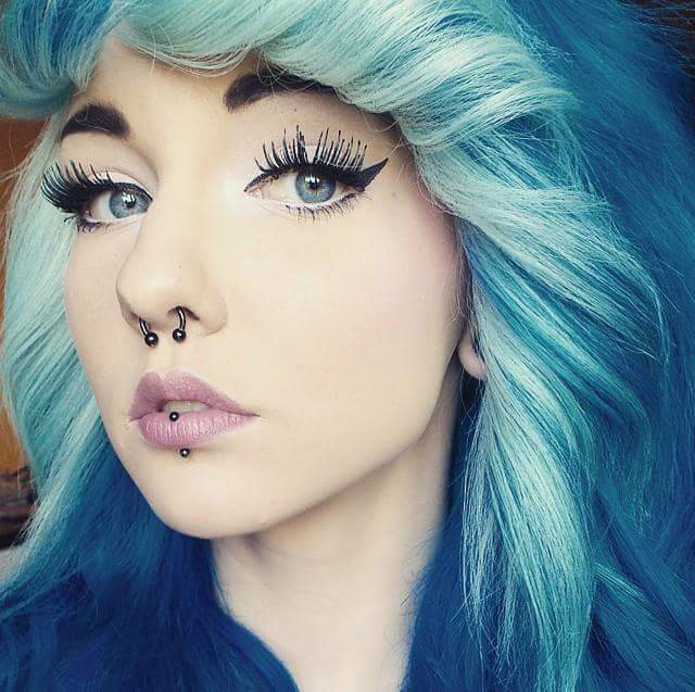 Boy With Blue Hair Lip Ring