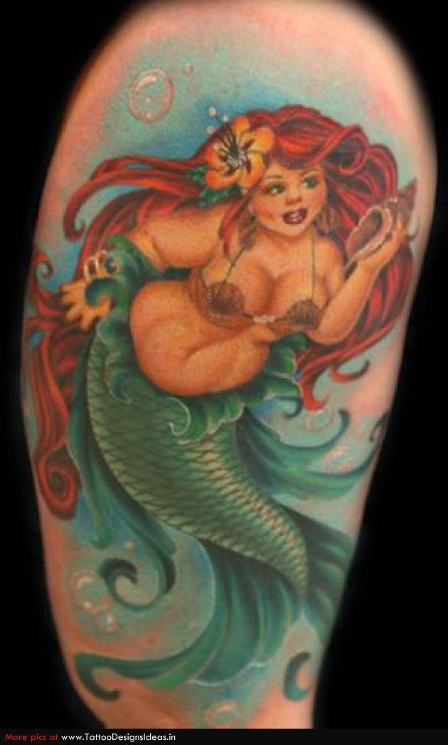 68 best little mermaid tattoos ideas for Little mermaid tattoo sleeve