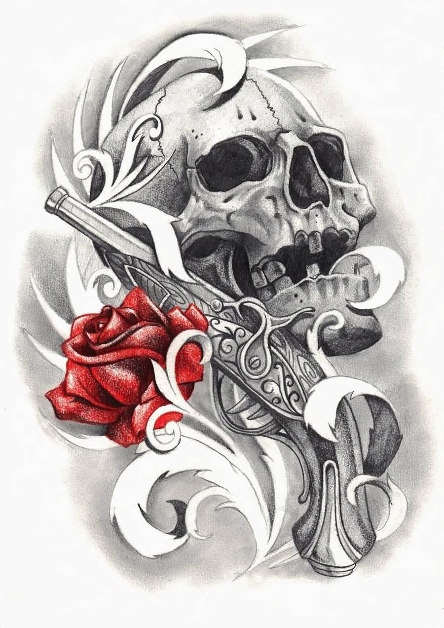 Pirate skull and guns - photo#16
