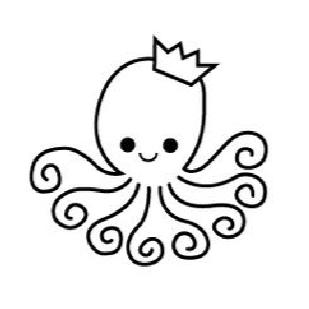 Cute Octopus Stencil