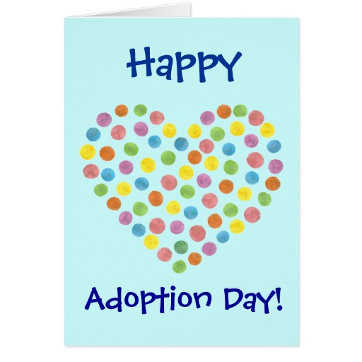 38 most beautiful adoption day greeting pictures and photos happy adoption day dotted heart greeting card m4hsunfo