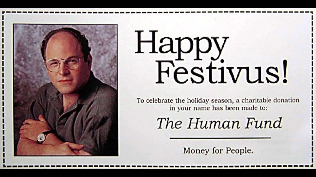 Seinfeld christmas card christmas cards happy festivus money for people m4hsunfo