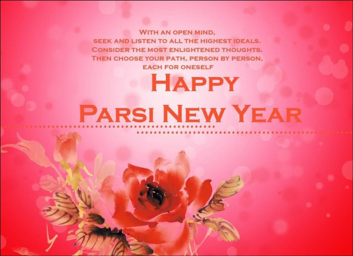 Happy parsi new year beautiful greeting card m4hsunfo