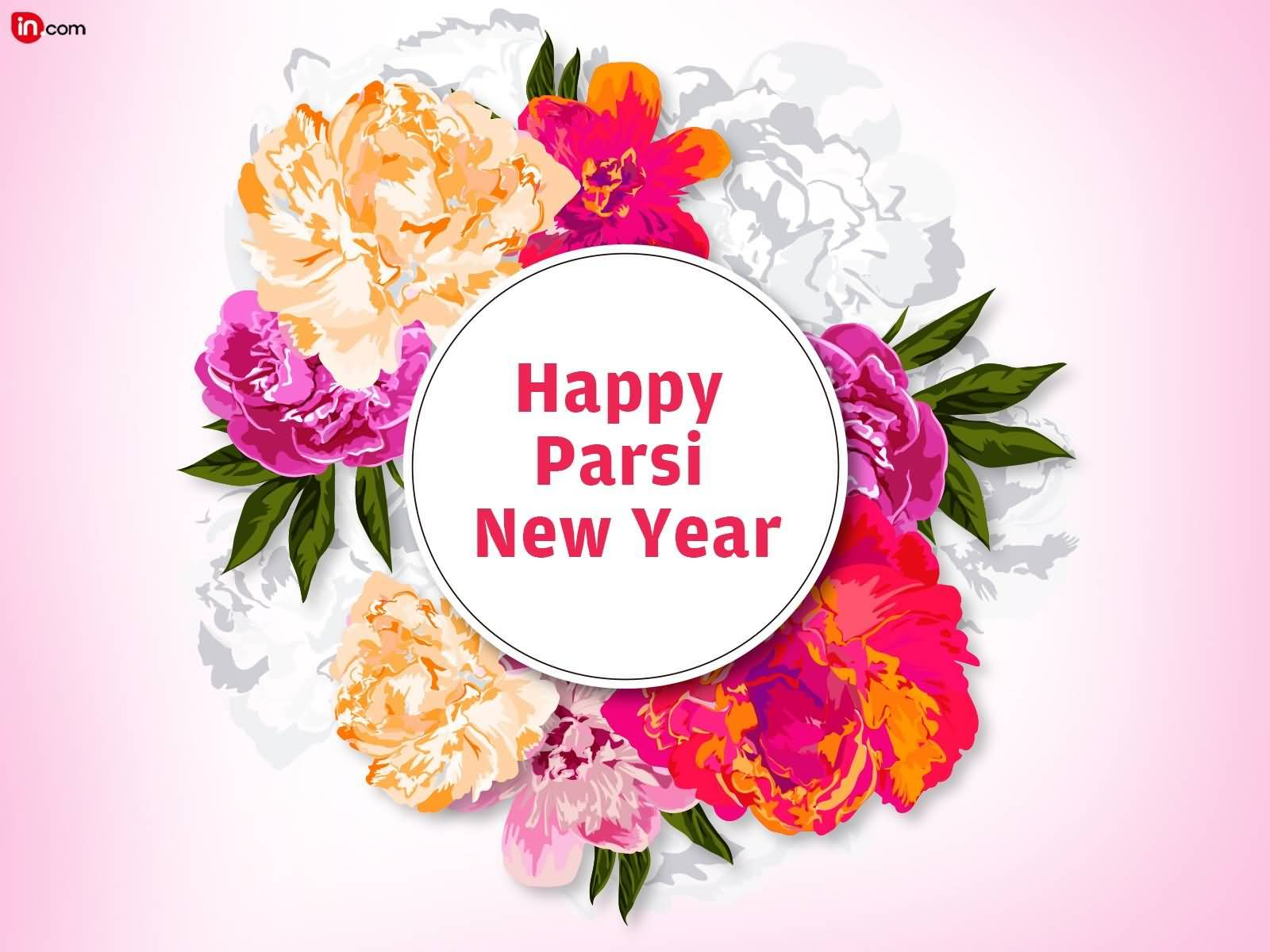 happy parsi new year colorful flowers in background picture