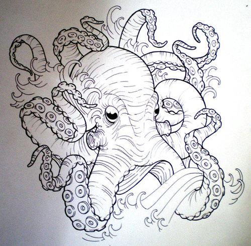 Octopus tattoo tumblr - photo#34