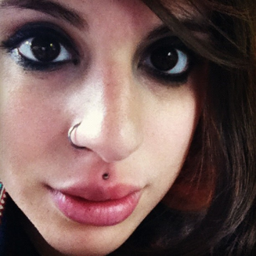 Medusa And Right Nostril Piercing