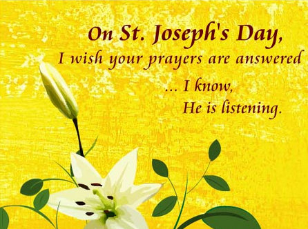 38 most wonderful saint josephs day greeting pictures on st josephs day i wish your prayers are answered i know he is listening m4hsunfo